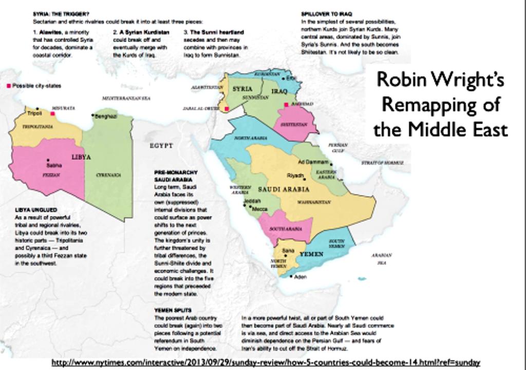 Πώς οι Αμερικανοί τεμαχίζουν και αλλάζουν τον χάρτη της Μέσης Ανατολής