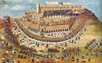 Πολιορκία των Αθηνών κατά το 1827, πίνακας του Παναγιώτη Ζωγράφου με την καθοδήγηση του Μακρυγιάννη