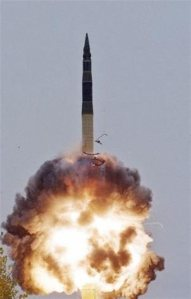 Το σύστημα φέρεται να έχει σχεδιαστεί ώστε να τοποθετείται στην κορυφή διηπειρωτικών βαλλιστικών πυραύλων -εικόνα αρχείου.