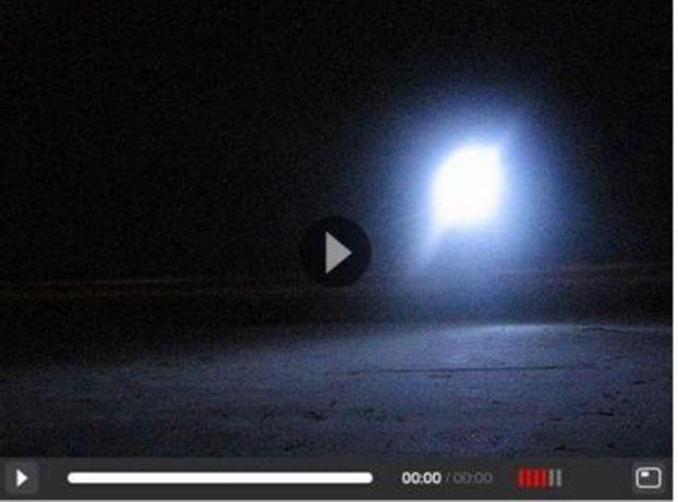 O σφαιρικός κεραυνός όπως καταγράφηκε στο βίντεο