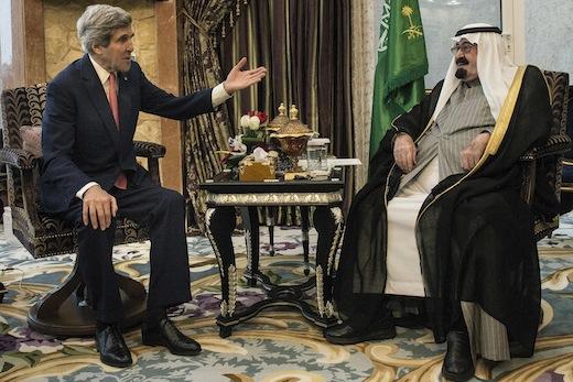 US Secretary of State John Kerry meets with Saudi Arabia's King Abdullah bin Abdulaziz al-Saud    Photo: Getty